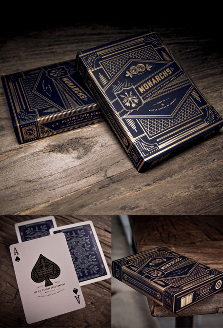 These look like the most elite playing cards ever. Beautifully crafted Monarch Playing Cards by @theory11 Tip them here