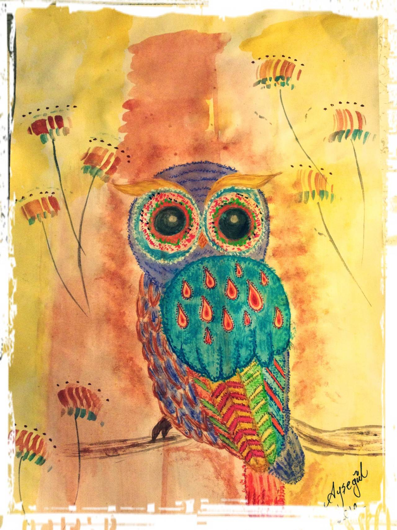 twinkleflakeart:  the owl l have just finished as a present