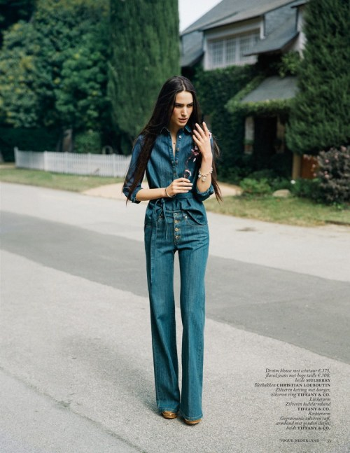 what-do-i-wear:  MIJO MIHALJCIC GETS DENIM CLAD FOR VOGUE NETHERLANDS MAY 2013 BY MARC DE GROOT