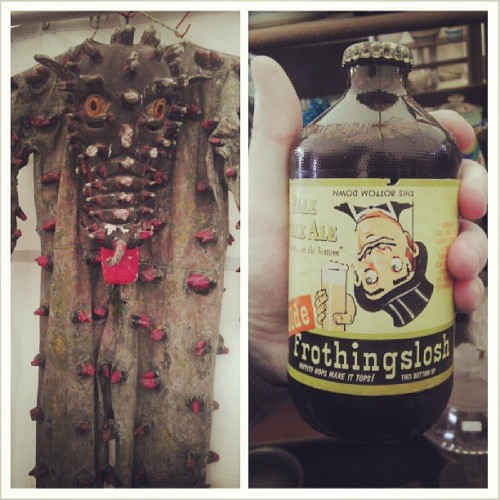 Just your everyday alligator suit and frothingslosh (at Brimfield Antique Show)