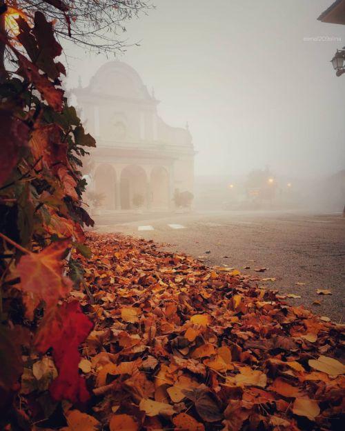 Via my instagramhttps://www.instagram.com/elena1209alina/?hl=en #Autum#autumn colors#autumn leaf#Fall#fall leaves#Sweater Weather#Village#slowlife#slowliving#fog#foggy day#foggy aesthetic#mist#piemonte#Italy
