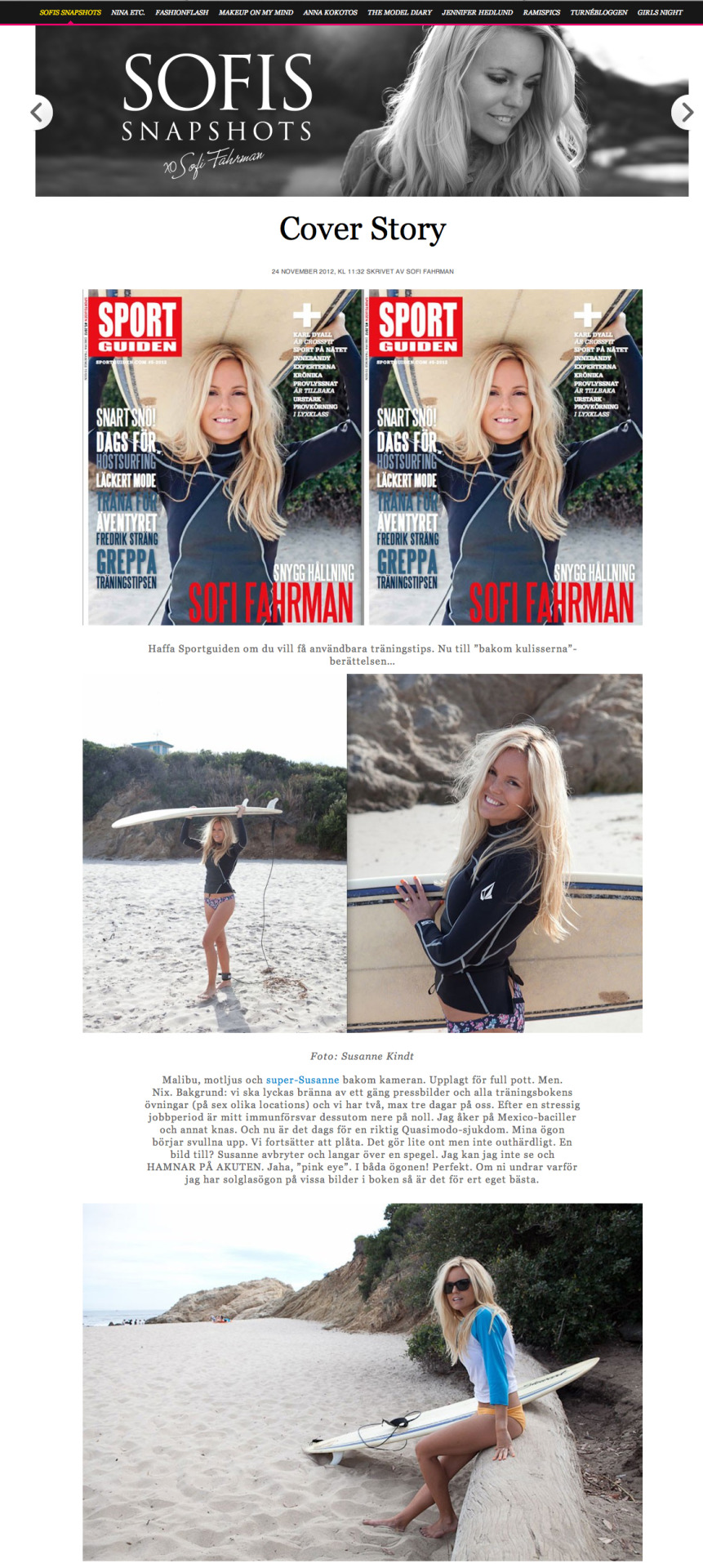 Cover and story of Sofi Fahrman from the book Bodylicious, taken from her blog!