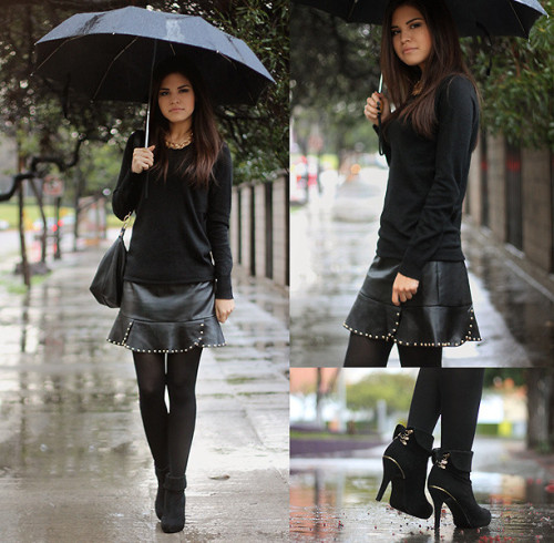 lookbookdotnu:  Black rain / giveaway (by Adriana Gastélum)