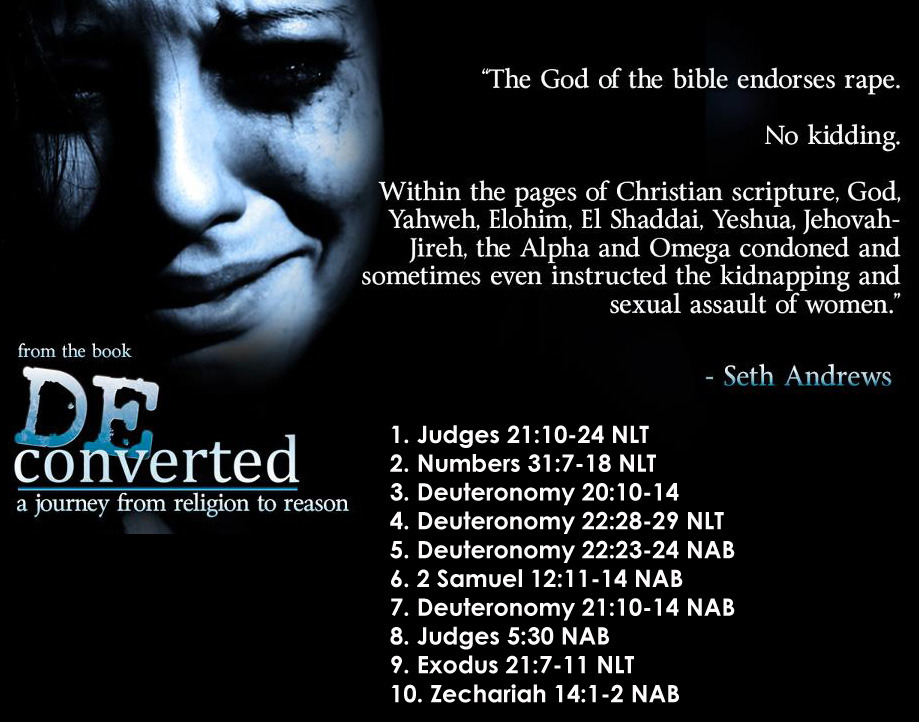 A controversial statement, yes. But verifiable within the pages of the bible, unfortunately.