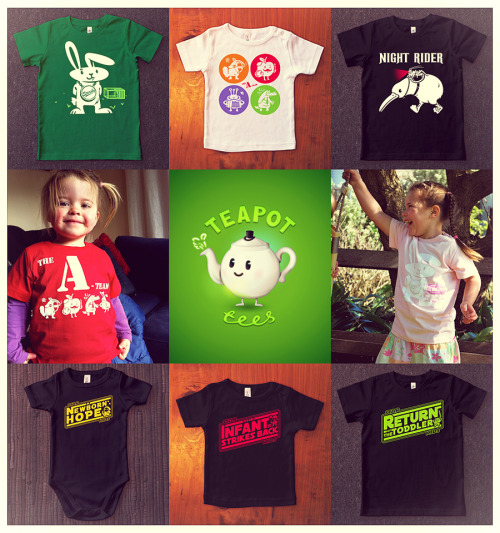 Visit Teapot tees and help support & spread the word for our little indie kids store (based in New Zealand with worldwide shipping).