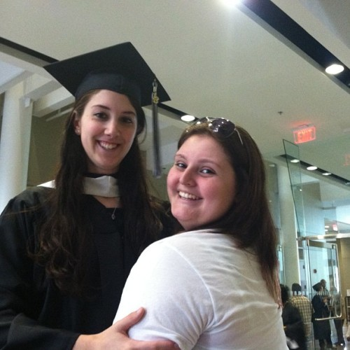Big sissy graduated college today 😊 I'm so proud of her. <3
