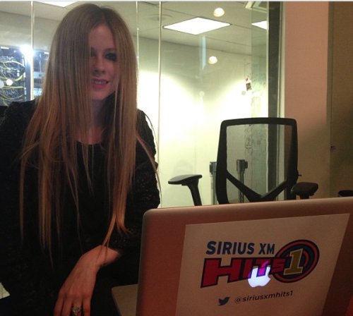 Avril answered your questions on the twitter page of Sirius XM Hits1 What's your favourite tattoo and why? My safety pin on my neck What will be the name of your next album?still trying to figure it out lol what is your favorite song from the new album ?Give You What You Like What kind of movies do you like?romantic comedies