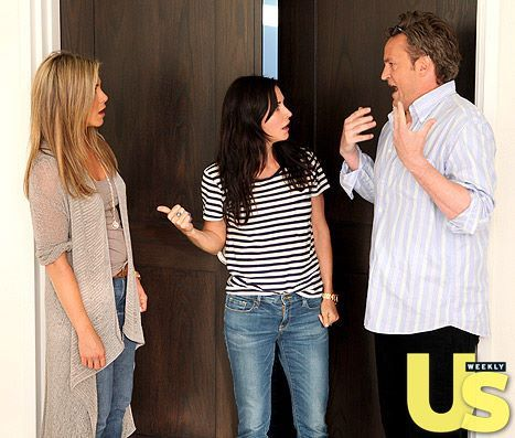 "Jennifer Aniston, Courteney Cox and Matthew Perry had a hilarious ""Friends"" reunion on The Ellen DeGeneres Show. Watch it here!"