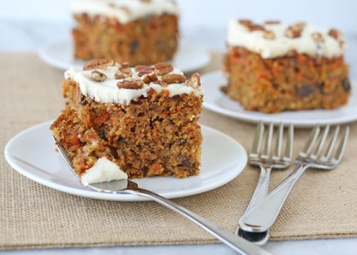 Carrot And Walnut Cake With Crushed Pineapple