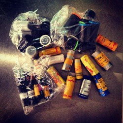Restocked on expired film. #yay #35 #meduimformat #120 #color #bw #excited #eep!