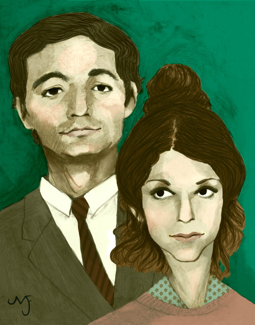 melissajfitz:  Bill and Gilda Double Portrait for a Gallery show