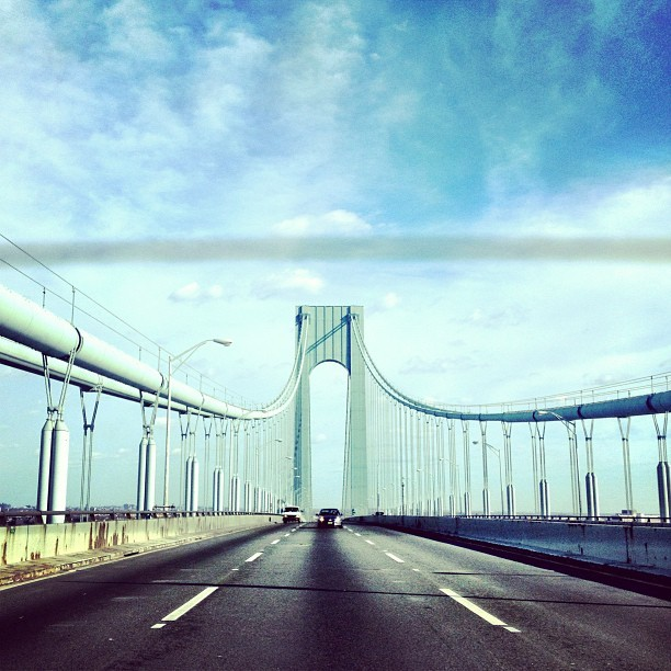 On the road again  (at Verrazano-Narrows Bridge)