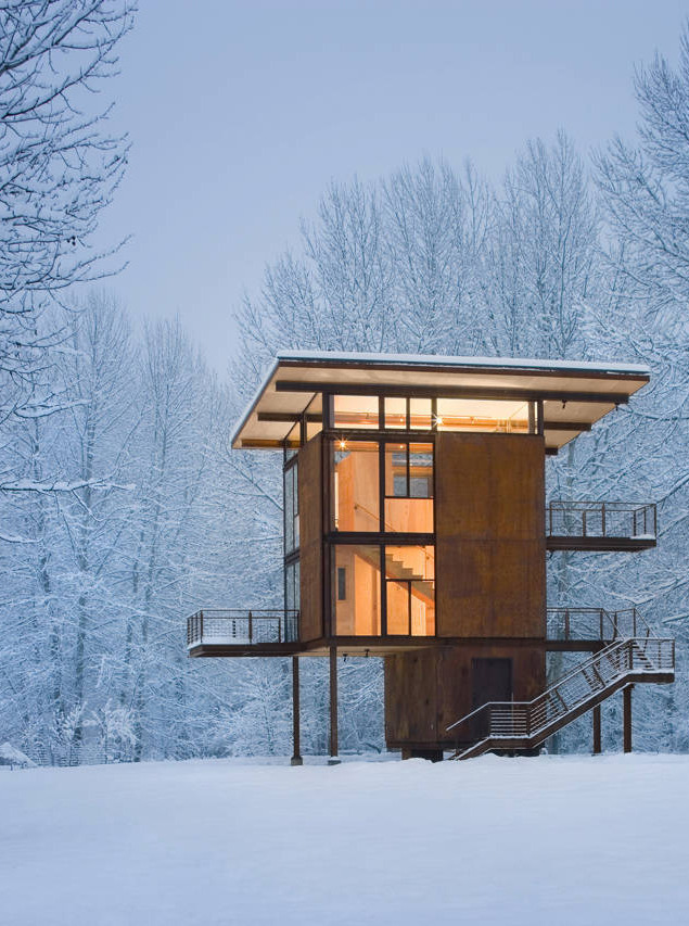 arkitekcher:  Delta Shelter | Olson Kundig Architects Location: Mazama, Washington, USA