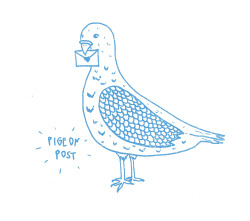 alanakeenan:  Pigeon Post screen print