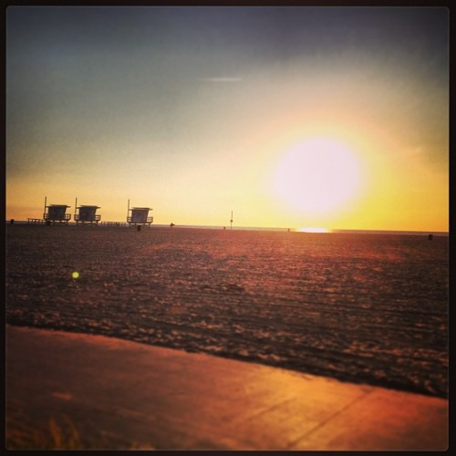 Sunset at Venice beach. New Year's Eve. 2012.