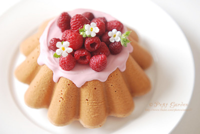 raspberrytart:  raspberry cake by .: Petit Garden :. on Flickr.