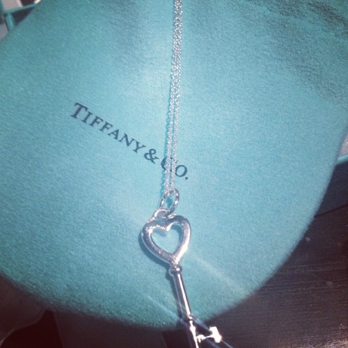 I got another little blue box for my birthday! 😍😍😍😍 #tiffany #littlebluebox #spoiledrotten