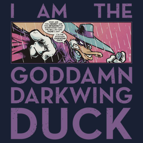 timetravelandrocketpoweredapes:  The Goddamn Duck by Nathan Davis Clothes and prints available at RedBubble