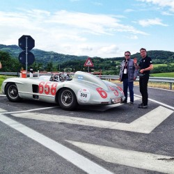 David Coulthard in the mighty 300 SLR W196 S. @therealdcf1 #millemiglia #mb_museum