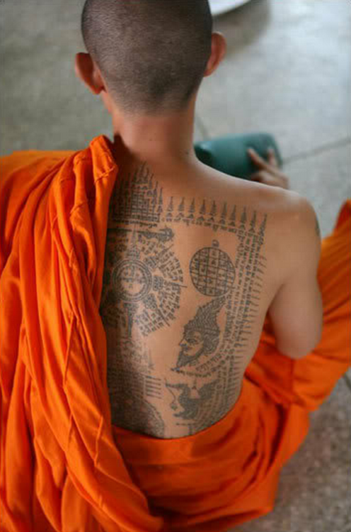 artprostir:  Traditional religious tattoo of Tibetan monks