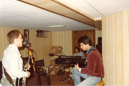 A very young Black Francis and Joey Santiago jamming in their UMASS-Amherst dorm room, pre-Pixies.  Not sure who the keyboardist is.