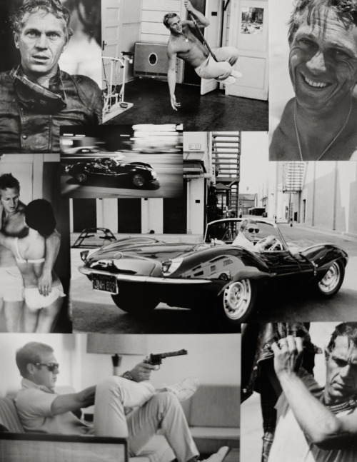 Oh Steve, my love.  justinchungphotography:  Photographs of Steve McQueen posted on a storefront in Le Marais, Paris.
