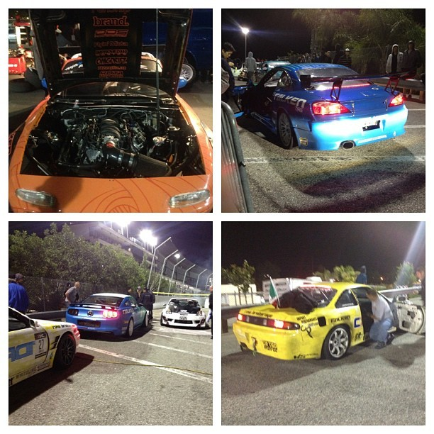 Dope night, all for a good cause.  #ls1 #miata #rx8 #240sx #s13 #s14 #s14 (at Toyota Speedway at Irwindale)