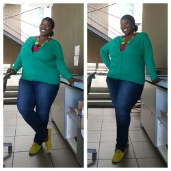 Casual Friday! Loving my yellow Oxfords and statement necklace! #plussizeblogger #fashion #plussizefashion #style #styleblogger #beauty #naturalhair #naturalhairdontcare #turban