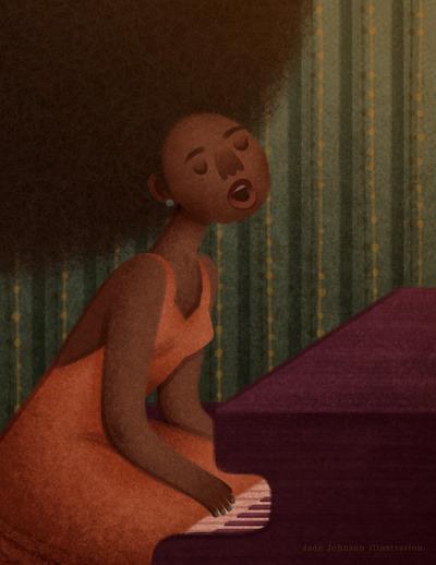 fyblackwomenart:  Nina Simone by Jade Johnson
