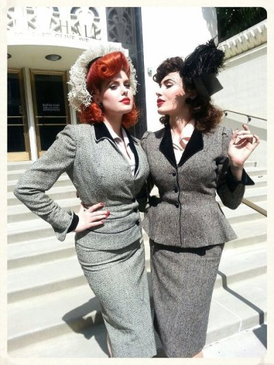 pinupenigma:  Doris and Micheline