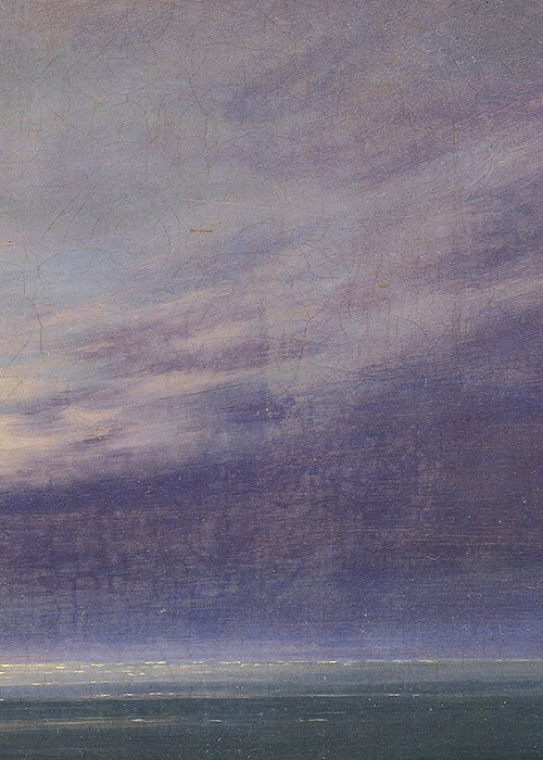 tamburina:  Caspar David Friedrich, Moonrise over the Sea (detail), 1822
