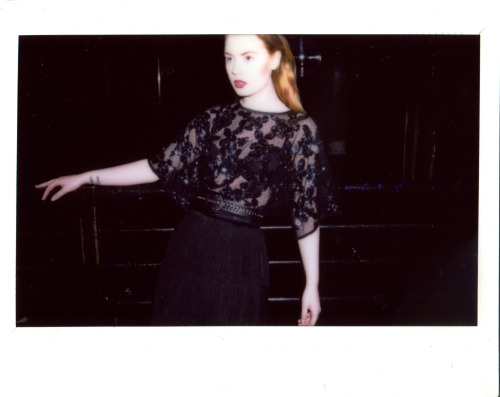 Polaroid from my shoot with Nuala Swan (Featured in Glacier Magazine)  Photography: Nuala Swan/ MUA & Hair Stylist: Hannah Sutherland/ Stylist: Claire Kelly