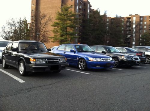daddywasaplane:  Saab 900 SPG, Saab 9-3 Viggen, and Saab 9-5 Aero.  Exactly these three.