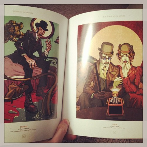 My pieces in the Steampunk Beginnings book.  #cuylersmith  #art  #illustration  #steampunk  #artbook
