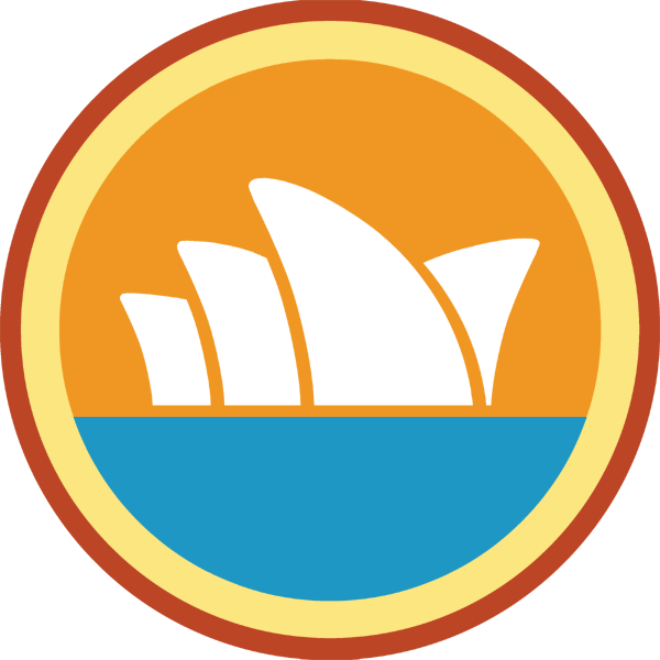 lifescouts:  Lifescouts: Sydney Opera House Badge If you have this badge, reblog it and share your story! Read other people's stories by looking through the notes. Click here to buy this badge physically (ships worldwide). Lifescouts is a badge-collecting community of people who share real-world experiences online.  i'm proud to say that i actually have been to the sydney opera house. although it was only last summer, i cant remember why i was even there, or what performance i had seen. what i do remember, though, was having a blast in australia. i loved it and i really hope to come back there someday.