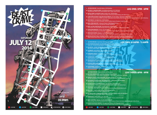 Beast Crawl 2014 Festival Map is here! Plan your route now. There will be plenty of printed copies on hand at our Info Table on the day of, but feel free to download the PDF and print your own as well.