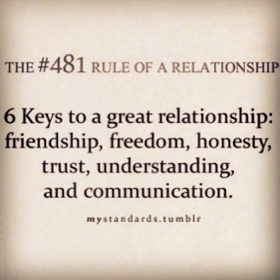 deeviez:  These rules are spot on. mystandards.tumblr. #love #life #relationship #relationships #deep #thought #rule #guide #guideline #truth #true #honest #help #helpful