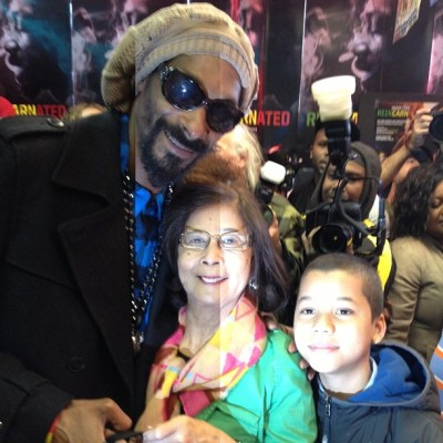 snooplion:  Me wit Mrs. Patricia Chin, founder of VP Records!!! #reincarnated