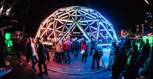 rory-johnson:  thecreatorsproject:  Geodesic Domes + Electronic Music  A winning combo.