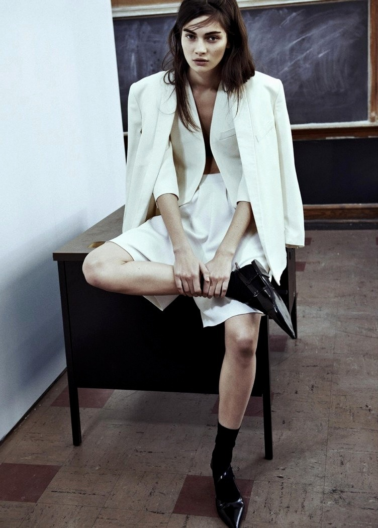 moldavia:  Antonina Vasylchenko in Intermission #7 S/S 2013 by Sebastian Kim