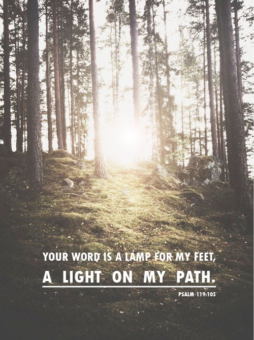 "spiritualinspiration:  ""Your Word is a lamp to my feet and a light to my path"" (Psalm 119:105).  Do you need direction in any area of your life today? You might be making decisions about your job, home or relationships, but you don't have to make those decisions on your own. God is interested in every detail of your life, and He's provided direction and guidance in His Word. When life seems dark, or when you aren't sure about which choice to make, turn on the light of God's Word so you can see clearly what to do. As you meditate on His Word and confess His promises over your life, it chisels away the walls of doubt, fear and uncertainty that would try to block you or hold you back.  Remember, you can always trust God because He is good and He has plans to prosper and bless you when you follow His Word. The Bible tells us that the path of the righteous is like the light of dawn which shines brighter and brighter. That means His truth will guide and direct your heart in the direction of peace, blessing and increase in every area of your life!"