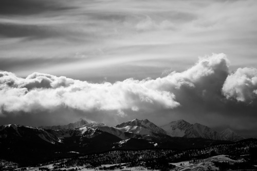 the Spanish Peaks today…