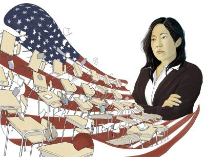 thenewrepublic:  The Blowtorch: How Michelle Rhee Misled Education Reform by Nicholas Lemann Illustration by Randy Ortiz