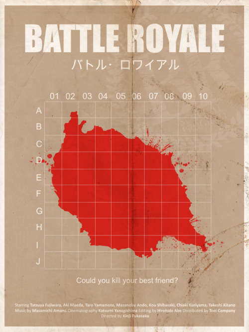 minimalmovieposters:  Battle Royale by pongelektro  O