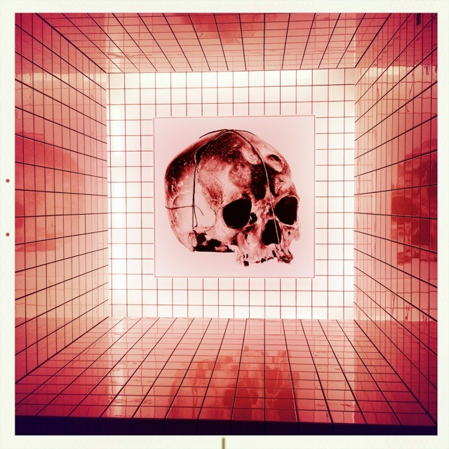 Installation - pompidou centre. Lucifered and infra red via Hipstamatic
