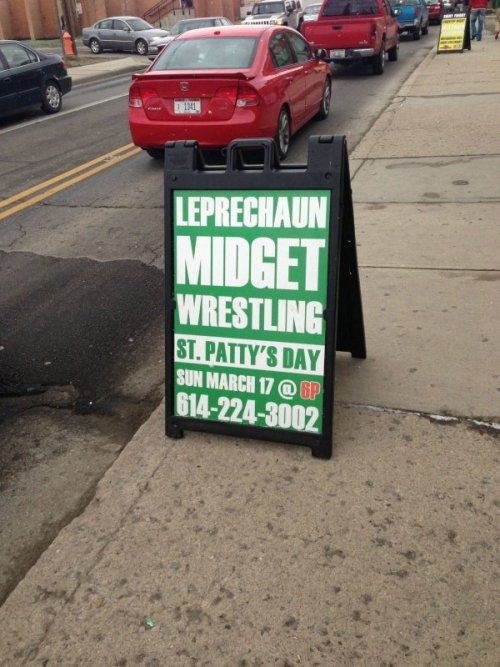 St. Patty's Day Leprechaun Midget Wrestling So are they smaller than average leprechauns?