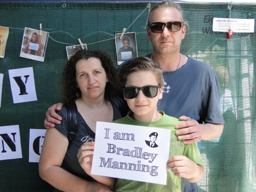 We are from Austria and we support Bradley Manning, because he fights for freedom.