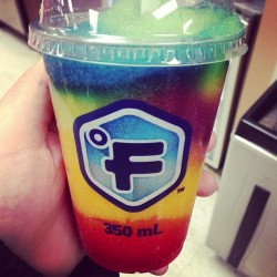 Yummy. #slushy #colorful #midnightsnack