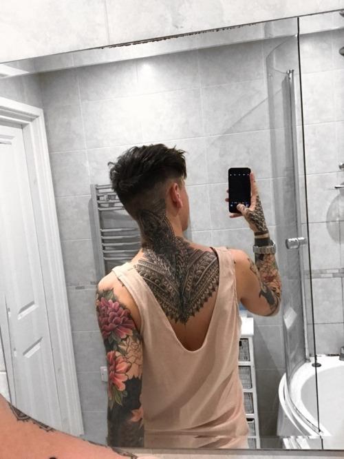 me tattoos back tattoo