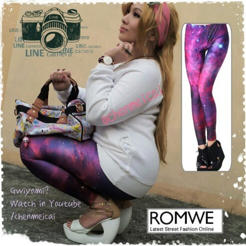 @romwe #romwemay I'm Chai, I'm in the Philippines, I'm wearing Romwe Leggings :) #romweshop #romwe #fashion #leggings #galaxy #fashionista #blogger #clothing #igersmanila #igers #photooftheday Sunset Glow Leggings from ROMWE - LATEST STREET FASHION ONLINE #freebies  (at Tondo, Manila)